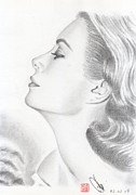 Kelly Prints - Princess Grace Kelly Print by Eliza Lo