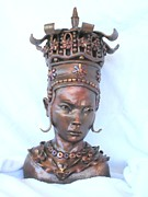 Portrait Sculpture Sculpture Prints - Princess Lu Print by Wayne Niemi