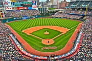 Baseball Game Framed Prints - Progressive Field Framed Print by Robert Harmon