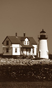 Maine Lighthouses Posters - Prospect Harbor Lighthouse Poster by Skip Willits