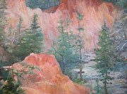 Canyons Paintings - Providence Canyon by Gretchen Allen