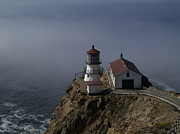 Oceans Art - Pt Reyes Lighthouse by Bill Gallagher