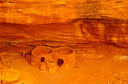Utah National Parks Prints - Pueblo Indian Ruins  Print by Jeff  Swan