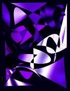 Style Framed Prints - Purple Abstract Art Framed Print by Mario  Perez