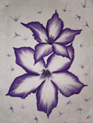 Laurie Penrod - 2 Purple Flowers