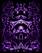 Vivid Framed Prints - Purple Series 1 Framed Print by J D Owen