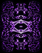 Abstraction Prints - Purple Series 3 Print by J D Owen