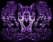 Purple Series 4 Print by J D Owen