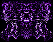 Psychedelic Prints - Purple Series 8 Print by J D Owen