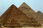 Pyramids At Giza Print by Bob Christopher