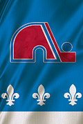 Puck Framed Prints - Quebec Nordiques Framed Print by Joe Hamilton