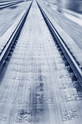 Long Bed Posters - Rail Track Poster by Qiang Fu