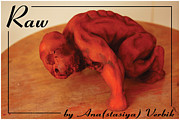 Young Man Sculpture Prints - Raw Print by Anastasiya Verbik