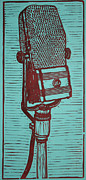 Linocut Framed Prints - Rca 44 Framed Print by William Cauthern