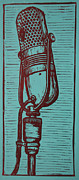 Linocut Framed Prints - Rca 77 Framed Print by William Cauthern