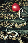 Ribbon Posters - Red Balloon Poster by Joana Kruse