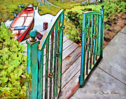 Impressionist - Red Canoe by Chuck Staley