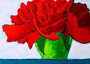 Carnation Painting Metal Prints - Red Carnation Metal Print by Ana Maria Edulescu