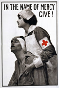 Armband Photos - Red Cross Poster, 1917 by Granger