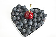 Heart Healthy Photo Posters - Red White and Blue Poster by Juli Scalzi
