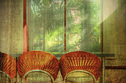Venetian Blinds Prints - Reflections Print by Debra and Dave Vanderlaan