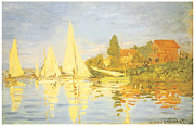 Boat Race Posters - Regatta at Argenteuil Poster by Claude Monet