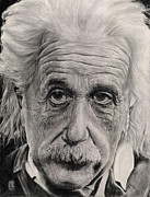 Albert Drawing Drawings Posters - Relativity Poster by Chuy Hartman