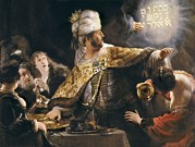 Belshazzar Art - Rembrandt, Harmenszoon Van Rijn, Called by Everett