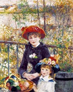The Two Sisters Art - Renoir, Pierre-auguste 1841-1919. Two by Everett