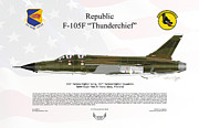 Republic Prints - Republic F-105F Thunderchief Print by Arthur Eggers