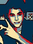 Retrato A Justin Bieber Print by Don Mario Ramirez Centeno