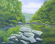 Buffalo River Paintings - Richland Creek by Garry McMichael