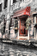 Italian Restaurant Digital Art Posters - Ristorante on the Canal Poster by Greg Sharpe