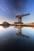 Scotland Images Prints - River Clyde Reflections Print by Grant Glendinning