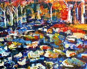 Riverbed Paintings - Riverbed by Frank Botello