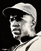 Jackie Robinson Drawings - Robinson 42 by Don Medina