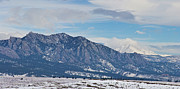 Stirring Framed Prints - Rocky Mountains Flatirons and Longs Peak Panorama Boulder Framed Print by James Bo Insogna