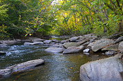 Mill Valley Prints - Rocky Wissahickon Creek Print by Bill Cannon