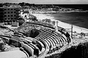 Roman Ruins Posters - Roman Amphitheatre Ruins Of Tarraco Unesco World Heritage Site Tarragona Catalonia Spain Poster by Joe Fox