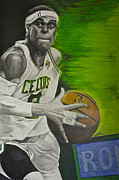Celtics Mixed Media Framed Prints - Rondo Framed Print by Ryan Doray