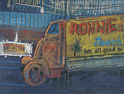 Truck Drawings Framed Prints - Ronnie Johns Framed Print by Donald Maier