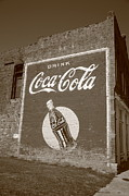 Advertising Posters Prints Framed Prints - Route 66 - Coca Cola Ghost Mural Framed Print by Frank Romeo