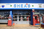 Gravel Road Photos - Route 66 - Sheas Filling Station by Frank Romeo