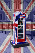 Duchess Framed Prints - Royal telephone box Framed Print by David French