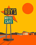 Pop Digital Art - Roys Cafe by Jazzberry Blue