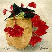 Ruby Begonia... Print by Will Bullas