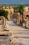 Ephesus Framed Prints - Ruins of Ephesus Framed Print by Brian Jannsen