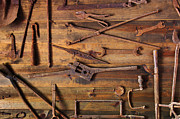Rusty Tools Print by Carlos Caetano