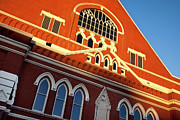 Brick Building Prints - Ryman Auditorium Print by Brian Jannsen