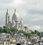 Paris Digital Art Framed Prints - Sacre Coeur Framed Print by Douglas J Fisher